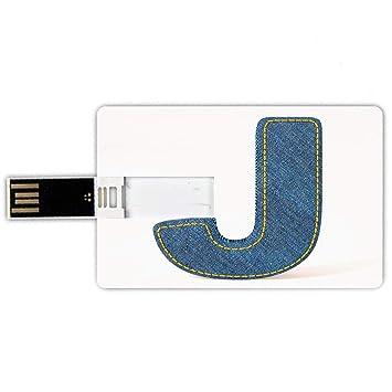 8GB Forma de tarjeta de crédito de unidades flash USB Letra ...