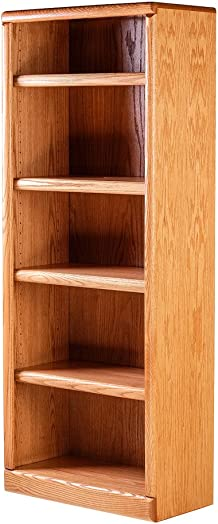 Forest Designs Bullnose Bookcase: 24W X 96H X 13D Ebony Oak