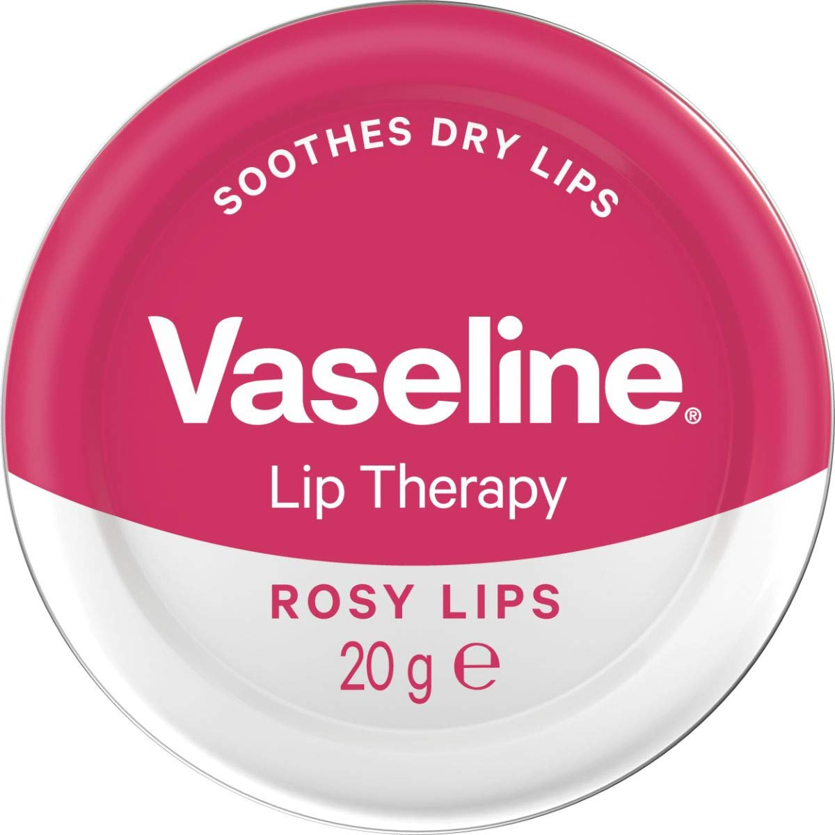 Vaseline Lip Therapy Rosy Lips Petroleum Jelly, 20 g