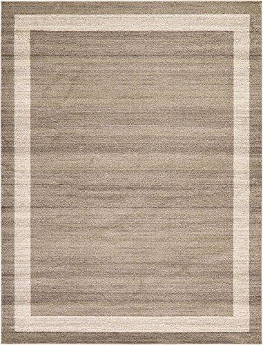 Unique Loom Del Mar Collection Contemporary Transitional Light Brown Area Rug (9' 0 x 12' 0) ()