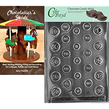 CybrtraydIts a Girl Business Card Chocolate Candy Mold with Packaging Bundle of 50 Cello Bags 25 Gold//25 Silver Twist Ties and Chocolate Molding Instructions