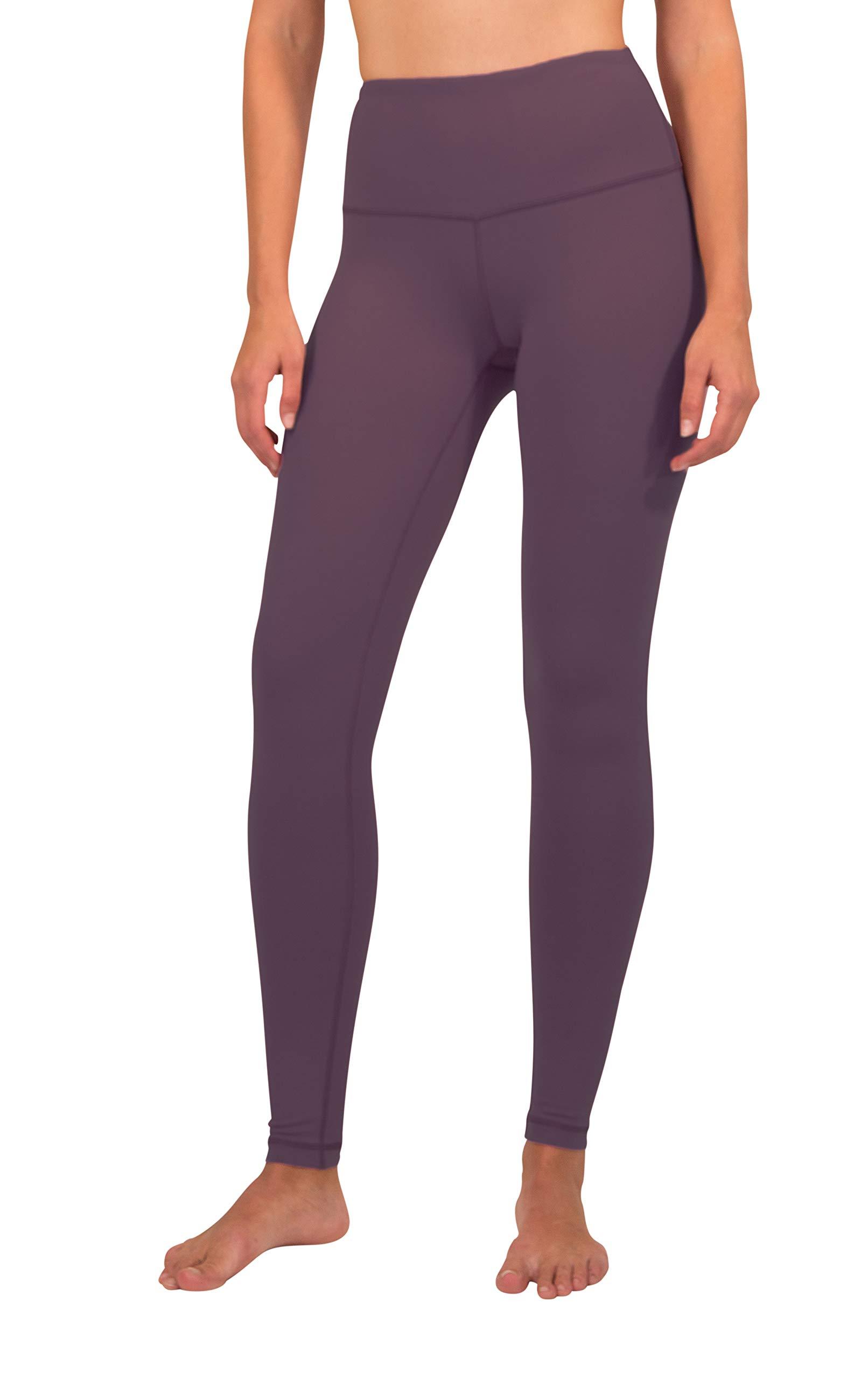 90 Degree By Reflex - High Waist Power Flex Legging – Tummy Control - Dusky Orchid - XS