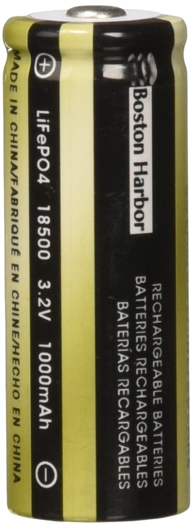 Boston Harbor BTLP185001000D2 1000-MAh Lithium Solar Battery, 2-Pack