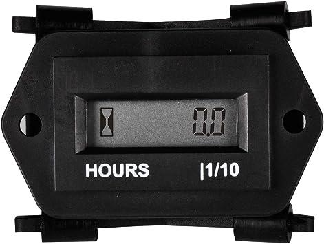 Runleader Digitaler Lcd Betriebsstundenzähler 86 Bis 230 V Wechselstrom Wasserdichtes Design Verwendung Für Ztr Rasenmäher Traktorgenerator Baumarkt
