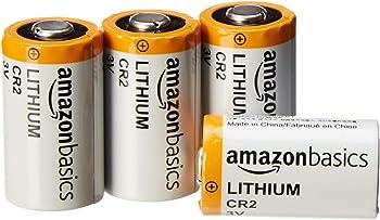 4-Pack AmazonBasics Lithium CR2 3V Batteries