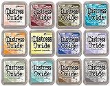 Arts & Crafts : Tim Holtz Distress Oxide Ink January 2018 - 12 Item Bundle