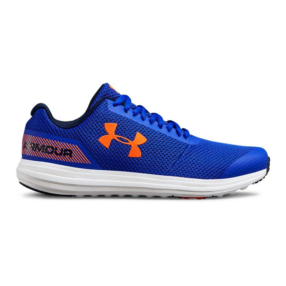 Under Armour unisex-child Grade School Surge RN Sneaker, Team Royal (400)/White, 4.5