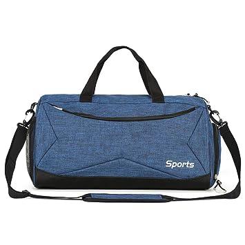 Oshide Sports Fitness Bag Hombres y mujeres Bolsos de hombro Paquete de equipaje Artículo seco y húmedo Bolsa de separación para hombres Bolsa de ...