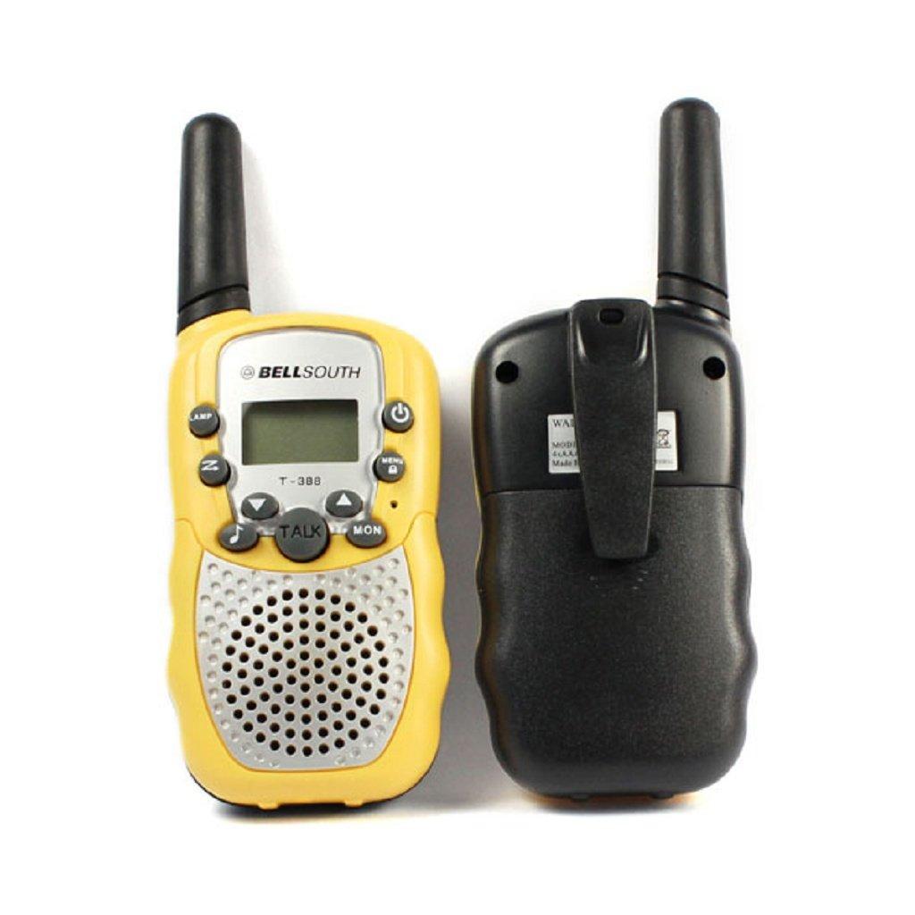 Coper 2pcs Portable Wireless Walkie-talkie Set Eight Channel 2 Way Radio Intercom 5KM Travel Yellow