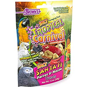 F.M. Brown'S Tropical Carnival Gourmet Spicy Santa Fe Parrot And Macaw Treat With Chili Peppers, Fruits, Veggies, And Nuts, 12-Oz Bag 88