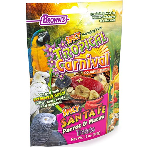 (F.M. Brown'S Tropical Carnival Gourmet Spicy Santa Fe Parrot And Macaw Treat With Chili Peppers, Fruits, Veggies, And Nuts, 12-Oz Bag)
