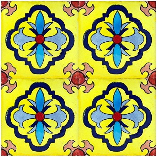 Rustico Tile and Stone TR6GUADALAJARA Guadalajara Talavera Tile Box of 45, 6