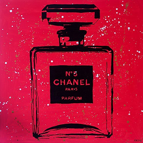 Chanel Pop Art rojo Urban Chic por PopArtQueen 12 X 12 Póster decoración de pared Pop Art Chanel Color Splash Chanel...