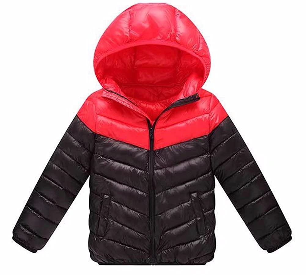 Kmety Boys Girls Outerwear Hooded Coats Winter Lightweight Warm Jacket