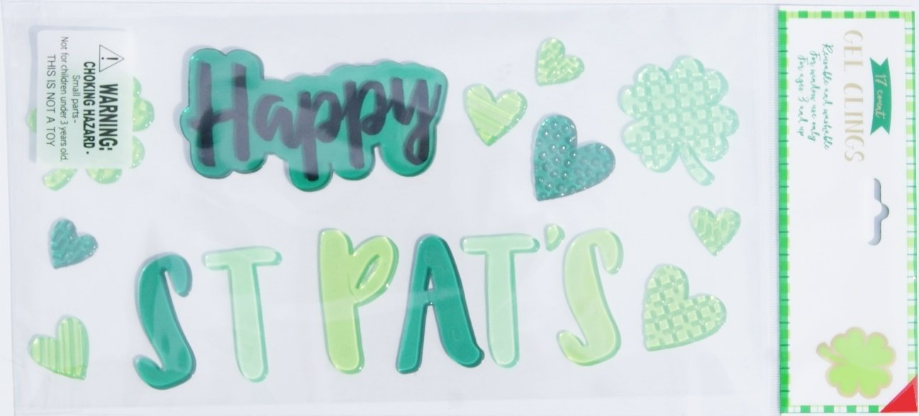 Patricks Day Happy St Pats Gel Window Clings 17 Piece Impact Innovations Holiday St