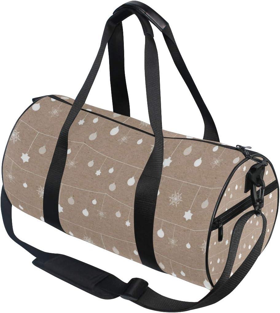MALPLENA Cute Christmas Bulb Drum gym duffel bag women Travel Bag