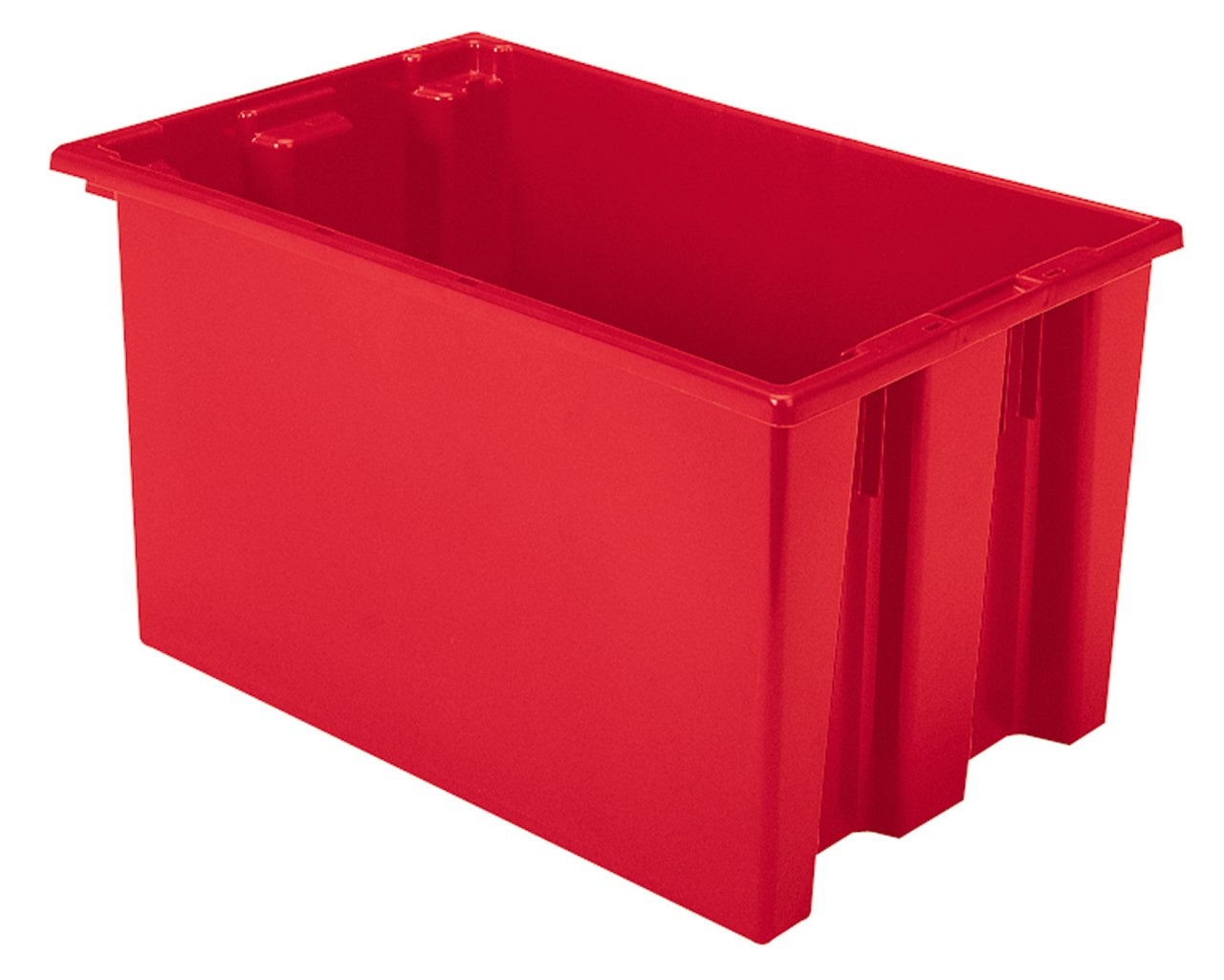Akro-Mils 35240 Nest and Stack Plastic Storage and Distribution Tote, 23.5-Inch L by 15.5-Inch W by 12-Inch H, Red, Case of 3