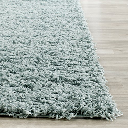 Safavieh Athens Shag Collection SGA119D Seafoam Square Area Rug (6'7