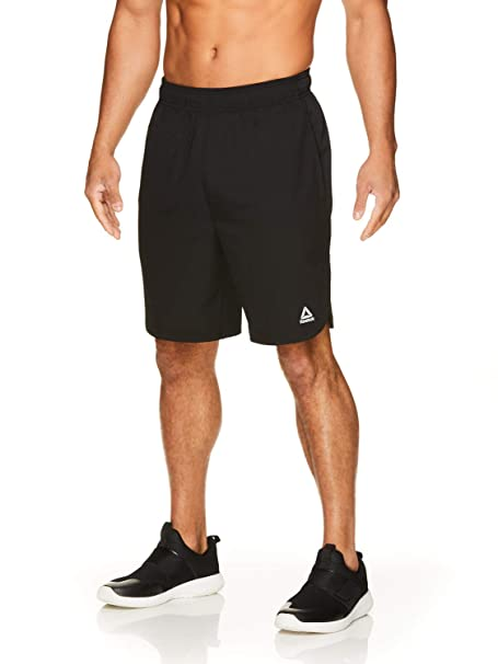 b306e0ad Reebok Men's Lightweight Workout Gym & Running Shorts w/Elastic Drawstring  Waistband & Pockets - 9 Inch Inseam