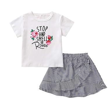 Niñito Conjunto de Ropa para niñas pequeñas Camiseta Blanca de ...
