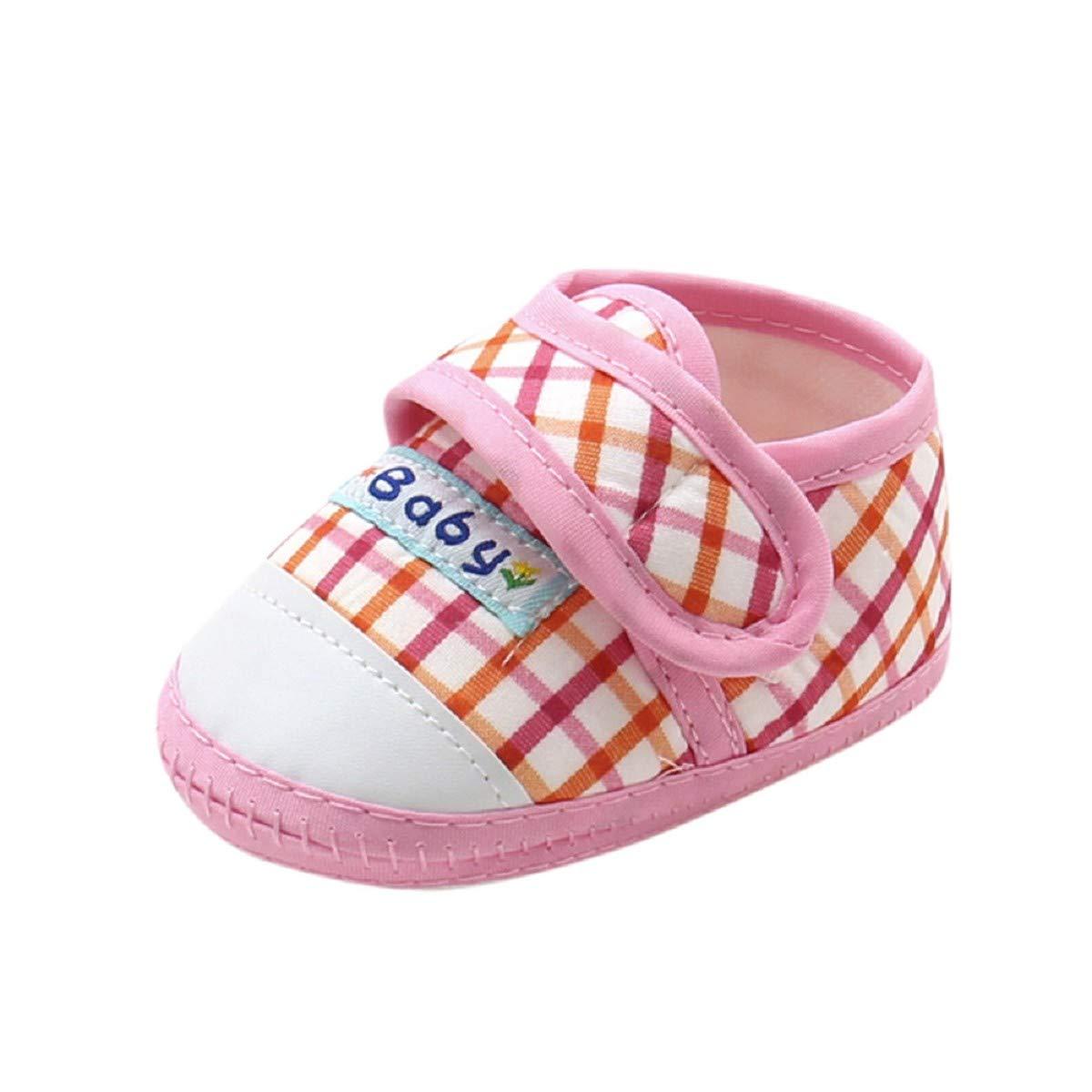 Toddler Canvas Shoes FAPIZI Newborn Infant Baby Boys Girls Soft Sole Prewalker Warm Casual Flats Shoes Pink