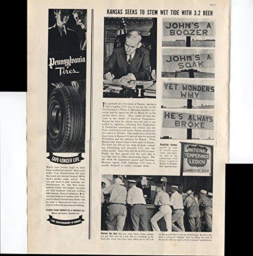 Pennsylvania Tires Safe Longer Life Fine Craftsmanship In Rubber 1937 Vintage Antique Advertisement