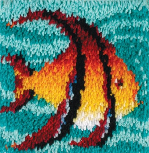 Tropical Fish Hook (Wonderart Latch-Hook Kit, Angel Fish, 12
