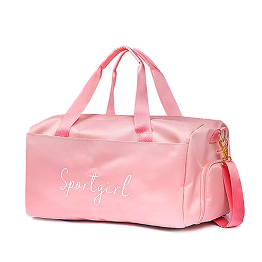 Breadaye Yoga Fitness Gym Bag Sport Bags Dry Wet Handbags Swimming For Women Shoes Travel Training Waterproof Pink XA536WA Pink