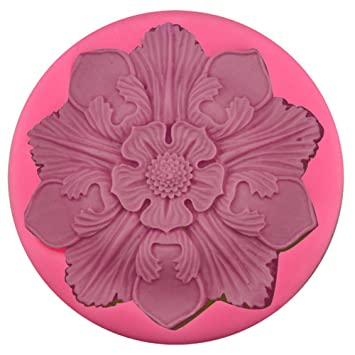 Beiug - Molde de silicona para tartas de chocolate con diseño de flores y pétalos grandes para niños: Amazon.es: Hogar