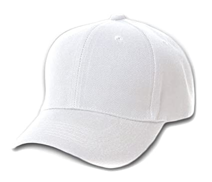 1221678e7ecb1 12 Baseball Caps Wholesale- White at Amazon Men's Clothing store ...