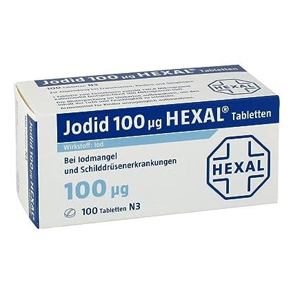 jodid hexal - 100 pastillas