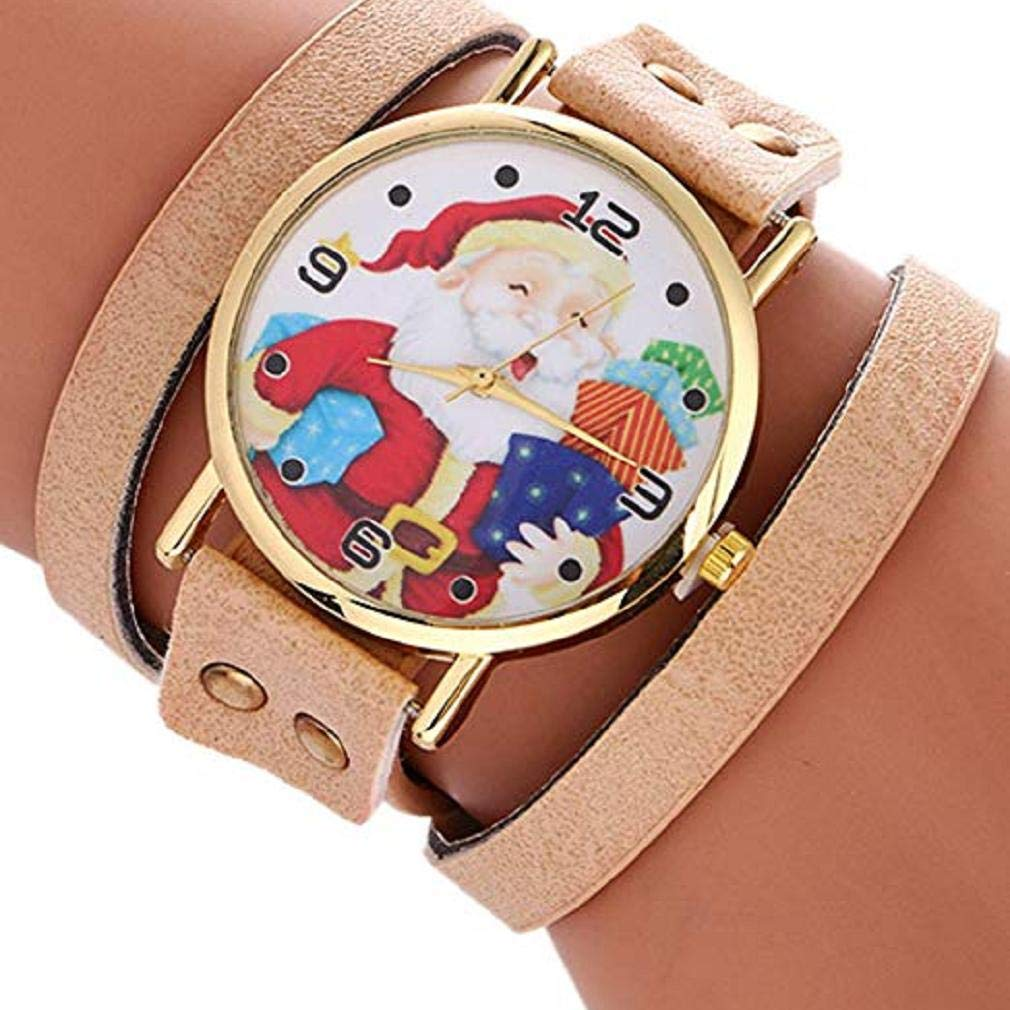 Amazon.com: Womens Bracelet Watches Windoson Ladies Watches Christmas Santa Claus Female Watches Leather Chain Watch (White): Electronics