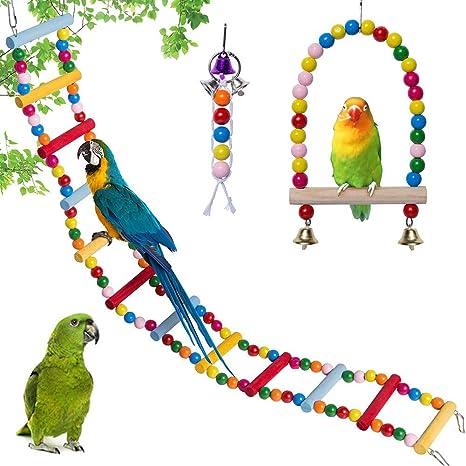 Kalaokei - Perlas de Madera para pájaros y Loros, Escalera ...