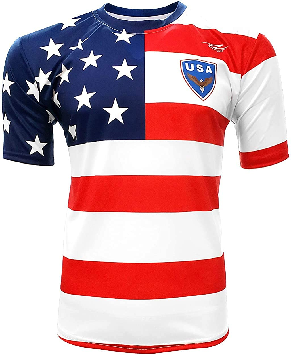 Men's USA Fan Jersey Arza Design Color White/Blue/Red