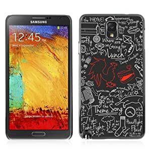 Designer Depo Hard Protection Case for Samsung Galaxy Note 3 N9000 / Cool Cock Retro pattern