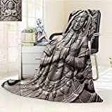 AmaPark Digital Printing Blanket Buddha in Thai Art with s Carving Bronze Summer Quilt Comforter