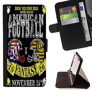 Dragon Case - FOR Apple Iphone 4 / 4S - My favorite football - Caja de la carpeta del caso en folio de cuero del tirš®n de la cubierta protectora Shell