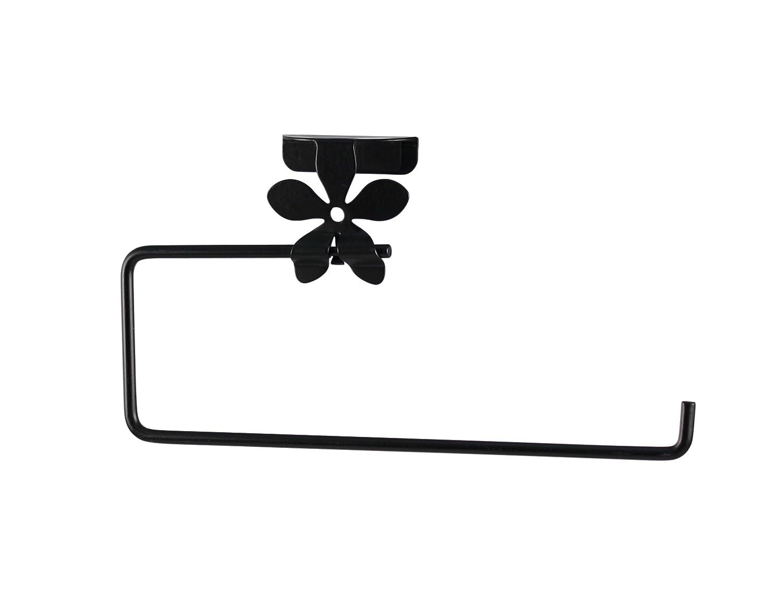 Spectrum Diversified Flower Over the Cabinet Door Double Hook, Black 96110