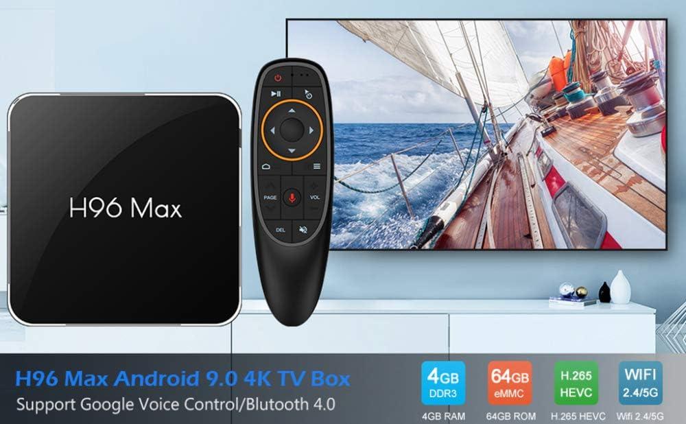 YPSMLYY H96MAX X2 Android 9.0 Smart Network TV Box Compatible con 2.4G / 5G WiFi 4GB 64GB 4G 4G Android Box con Control Remoto por Voz 64G: Amazon.es: Hogar