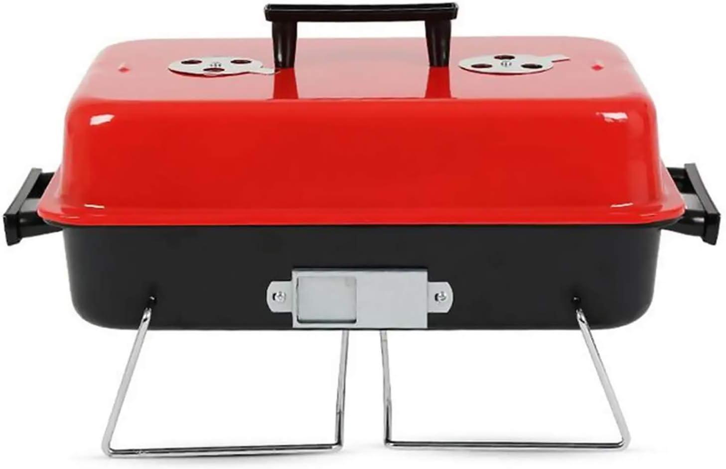 furein Barbacoa Portatil BBQ Clasica, Parrillera Portable, Grill Small Rack, Estufa de Cocina Picnic, Acampada, Camping, Playa, Stainless Steel Charcoal Meat Cooking Machine
