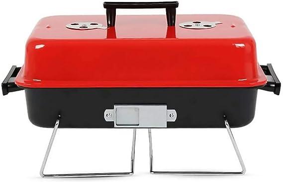 furein Barbacoa Portatil BBQ Clasica, Parrillera Portable, Grill Small Rack, Estufa de Cocina Picnic, Acampada, Camping, Playa, Stainless Steel ...