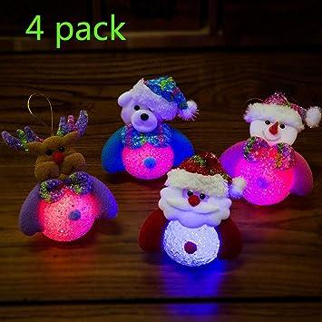 yuailiur Creative Glowing LED Night Light Plush Pillow Stuffed Toys Snowman  Christmas Lights Decoration Santa Clause - Amazon.com: Yuailiur Creative Glowing LED Night Light Plush Pillow