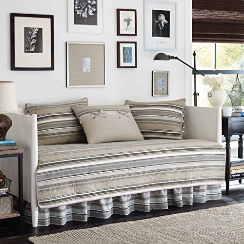 Country Set Daybed - Stone Cottage Fresno Neutral 5-Piece Daybed Quilt Set,Ivory,Daybed