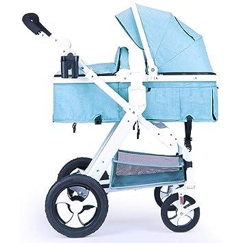 BABY CARRIAGE ZLMI Cochecito de bebé Plegado rápido para un fácil Almacenamiento Multifuncional Asiento/inclinación. Pasa ...