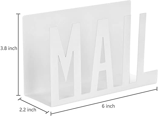 Kitchen Counter Organizer Mail Holder In White Color Abhandicrafts Mail Sorter Desktop Organizer For Home Office Office Products Desk Accessories Storage Products Urbytus Com