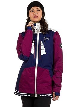Picture Mujer Snowboard Chaqueta Lander, Color b Burgundy/Dark Blue, tamaño Extra-Small: Amazon.es: Deportes y aire libre