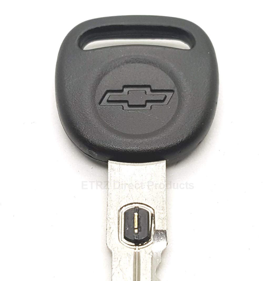 15. Strattec V.A.T.S No GM 598525 Corvette Style Big Head Double Sided Ignition Key Blank w//Chevy Logo and Vats Resistor Chip #15 for: 1997-04 Chevrolet Corvette Vehicles