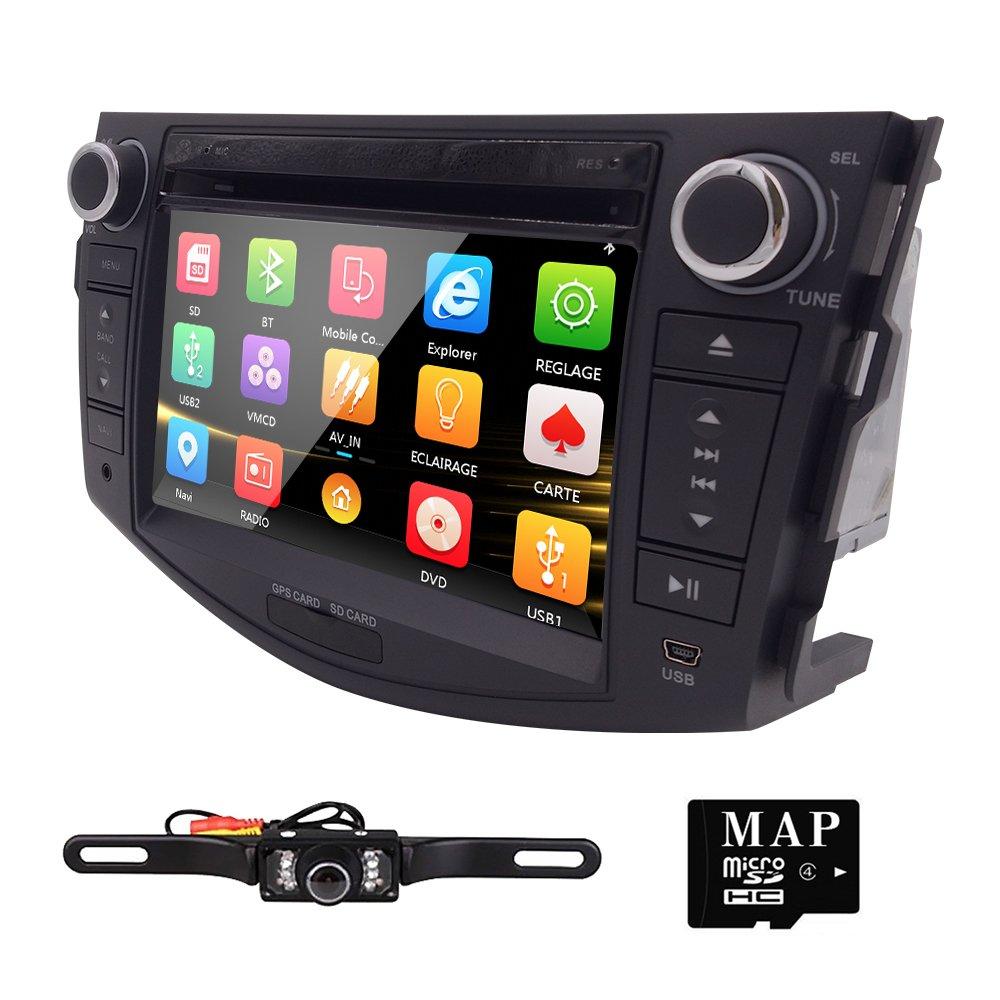 7'' 3G BT iPod GPS Car DVD Player Radio For Toyota RAV4 2006 2007 2008 2009 2010 2011 2012+Camera