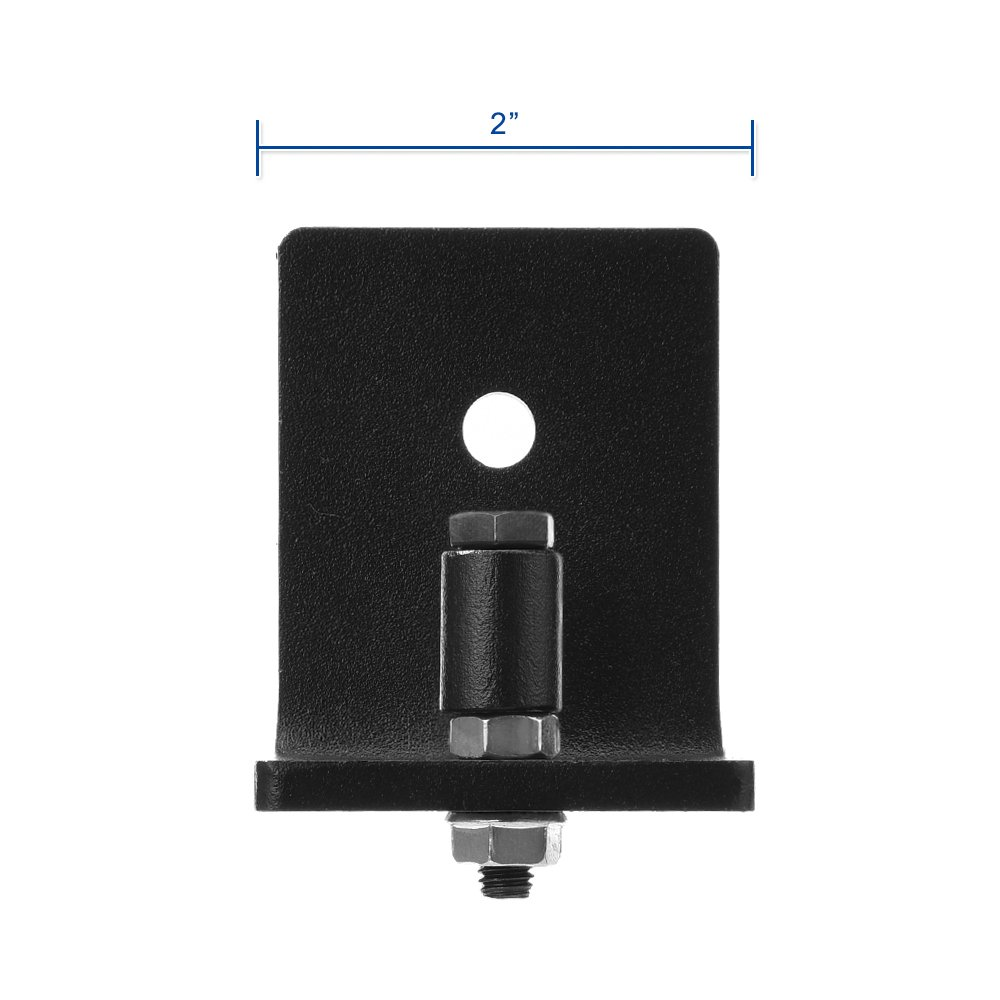 Wall Mounted Adjustable Channel Floor Guide Stay Roller for Sliding Barn Door Black Powder Coated, Pack of 2