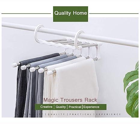Amazon.com: Perchas de 5 capas plegables para pantalones ...